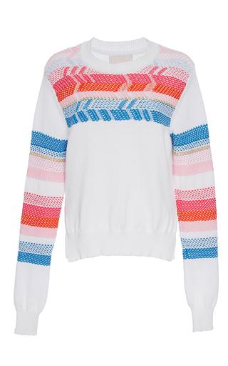 Medium peter pilotto white peruvian knit jumper