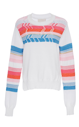 Medium peter pilotto white peruvian knit jumper