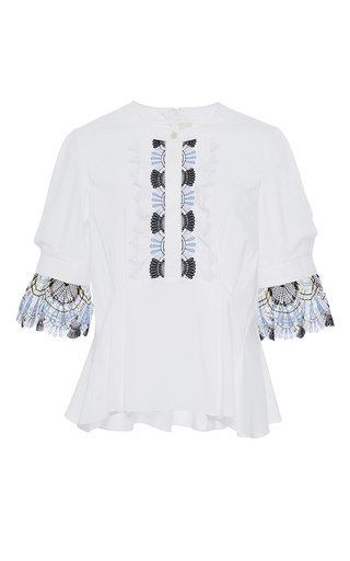 Medium peter pilotto white cotton lace blouse