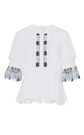 Medium peter pilotto white cotton lace blouse
