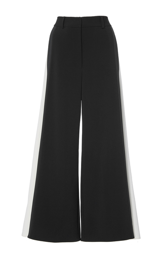 Medium peter pilotto black cady contrast culottes