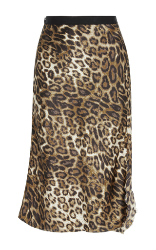 Medium nili lotan animal lillie leopard slip skirt
