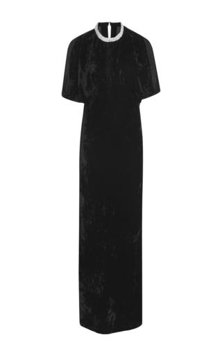 Medium nili lotan black stella jeweled column gown