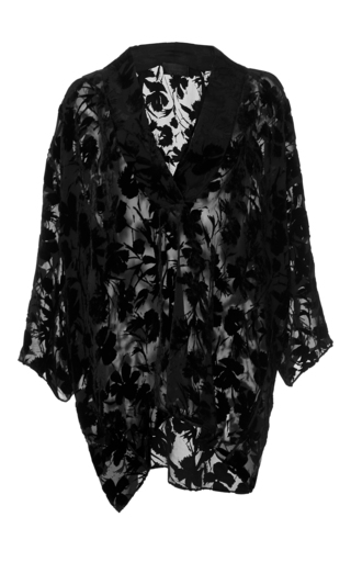 Medium nili lotan black helga floral blouse