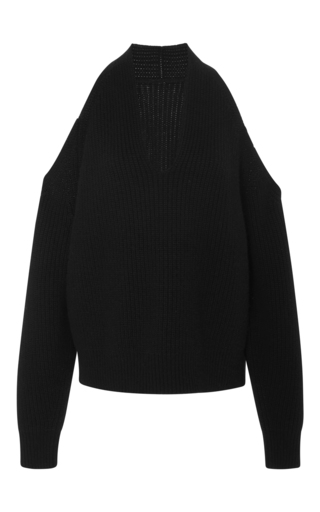 Medium nili lotan black celeste cutout sweater