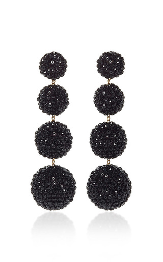 Medium rebecca de ravenel black les bonbons earrings