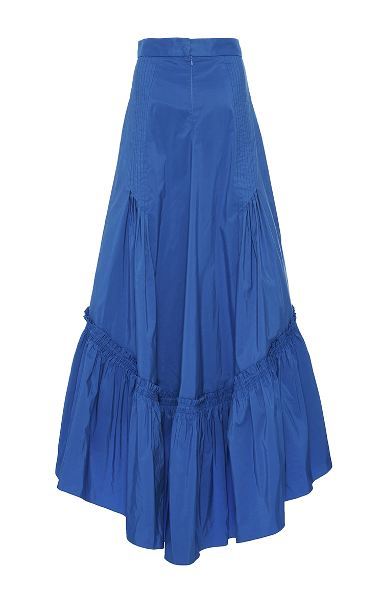 Bright Blue Taffeta Long Skirt