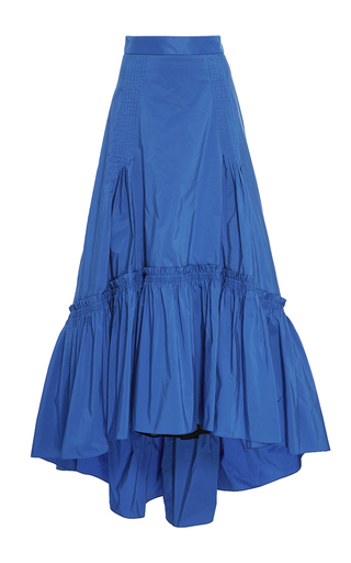 Medium peter pilotto blue bright blue taffeta long skirt