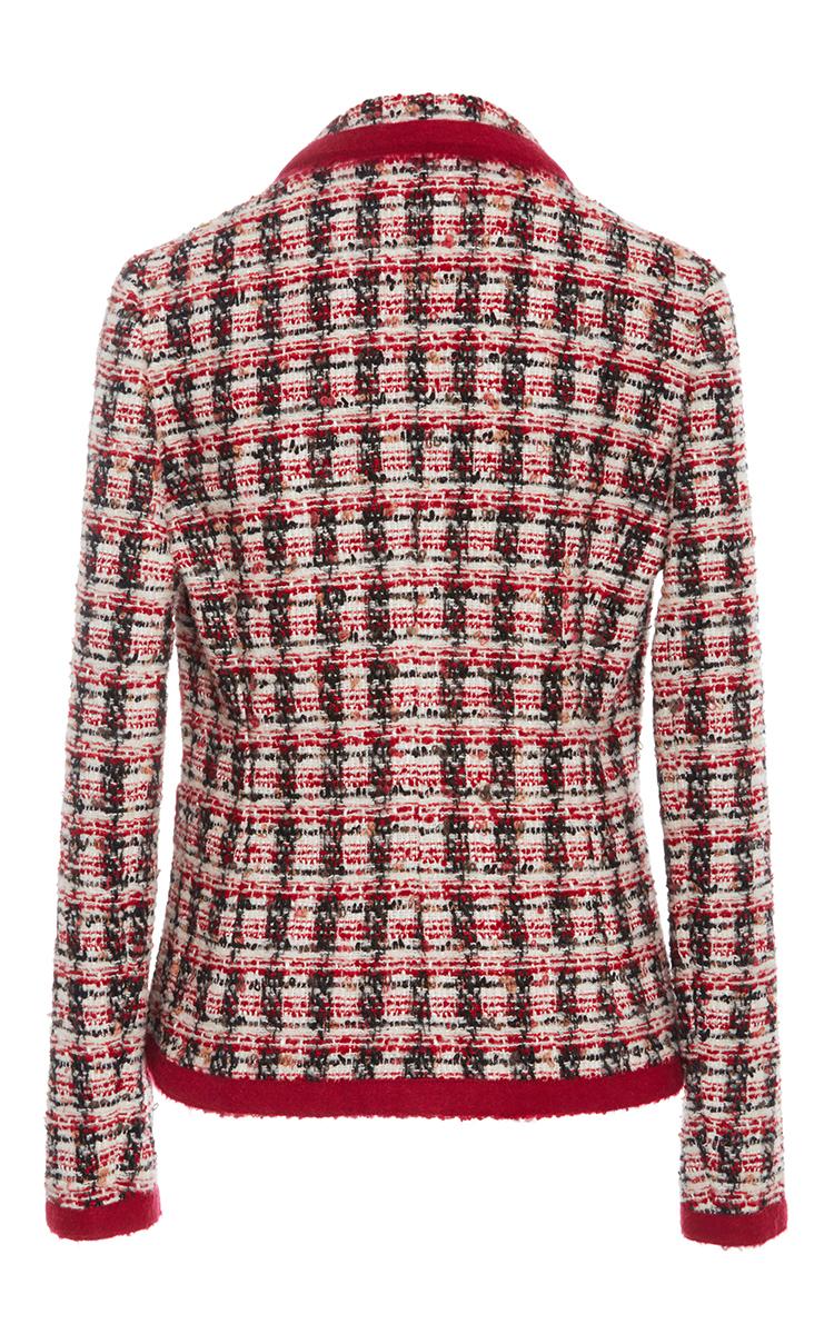 PAULE KA Tweed Blazer in Red