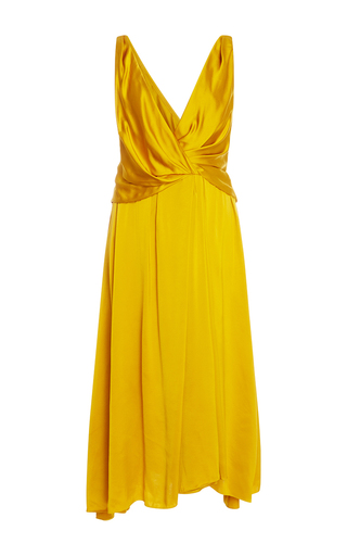Medium paule ka gold v neck dress