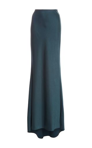 Medium paule ka green bias cut floor length skirt