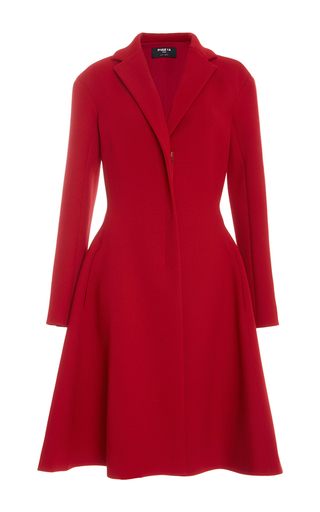Medium paule ka red dress coat with pockets