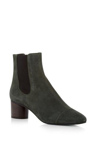Medium isabel marant dark grey danae velvet ankle boot 3
