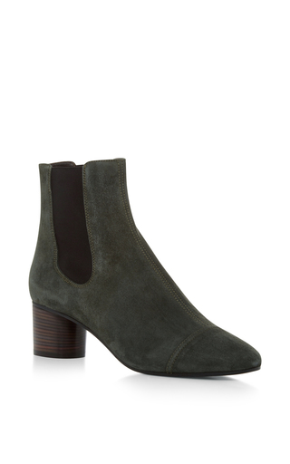 Medium isabel marant dark grey danae velvet ankle boot 3
