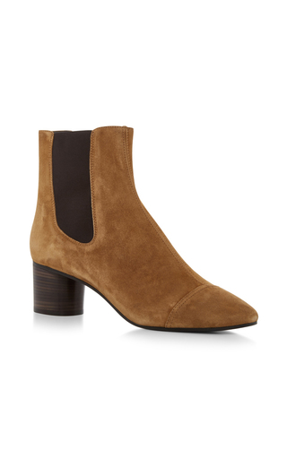 Medium isabel marant brown danae velvet ankle boot 2