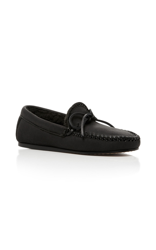 Medium isabel marant black ettyni studded loafer