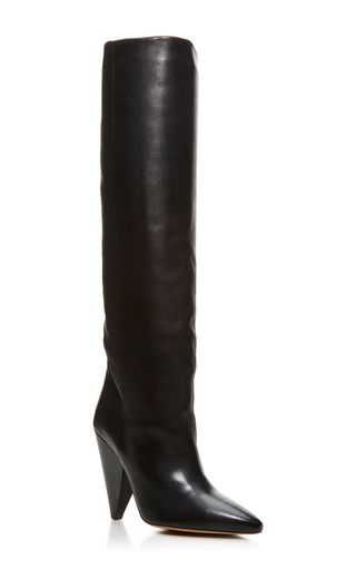 Medium isabel marant black laity knee high boots