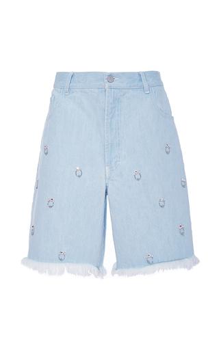 Medium sandy liang light wash embellished jinkoh denim shorts