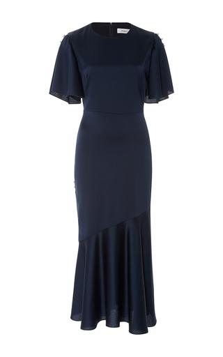 Medium prabal gurung navy short sleeve flared skirt dress