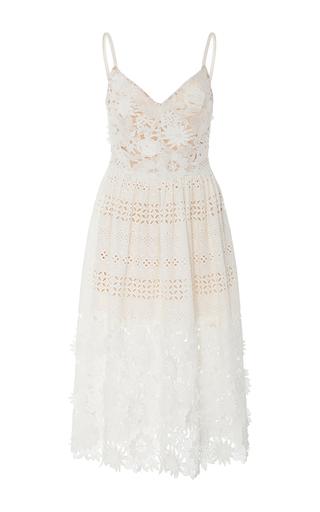 Medium prabal gurung off white spaghetti strap eyelet dress