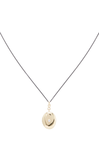 18 K Yellow Gold Infinity Locket Necklace by MONICA RICH KOSANN Now Available on Moda Operandi