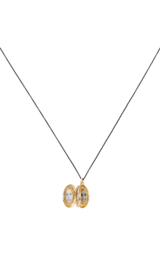 18 K Yellow Gold 4 Image Locket Necklace by MONICA RICH KOSANN Now Available on Moda Operandi