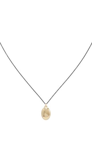 Medium monica rich kosann gold 18k yellow gold infinity locket necklace 2