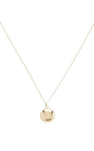 Medium monica rich kosann gold 18k yellow gold petite locket necklace
