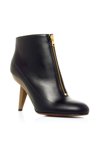 Medium marni black ankle boot with sculpted heel