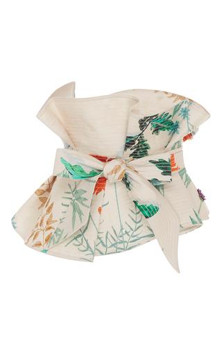 Medium johanna ortiz floral dominica strapless top and belt