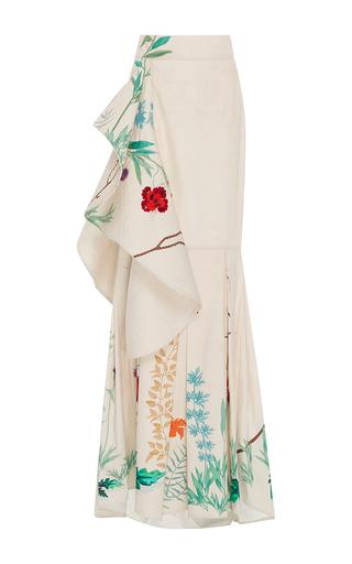 Medium johanna ortiz floral cicilia fluted cotton sateen skirt