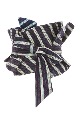 Medium johanna ortiz stripe m o exclusive striped celia top and belt