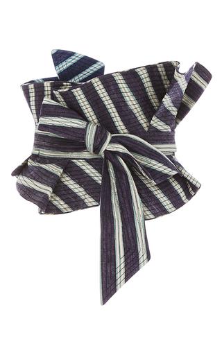 Medium johanna ortiz stripe m o exclusive striped celia top and belt