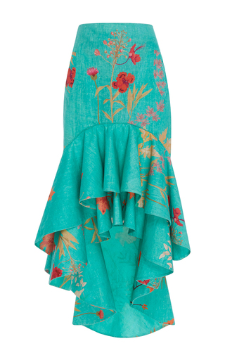 Medium johanna ortiz floral providencia flared high low skirt