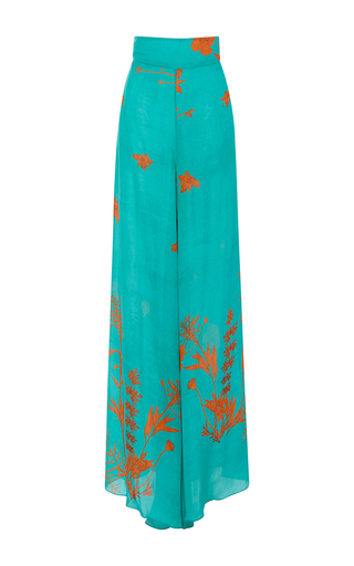 Medium johanna ortiz floral m o exclusive formentera wide leg pants