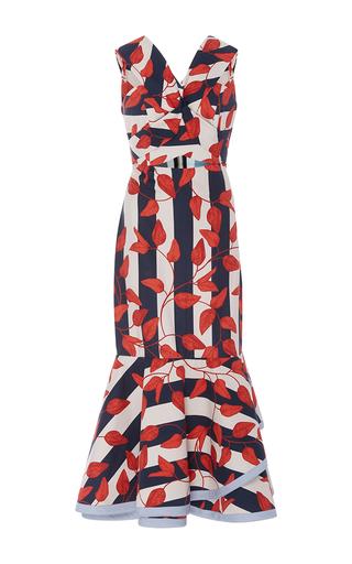 Medium johanna ortiz stripe m o exclusive victoria island midi dress