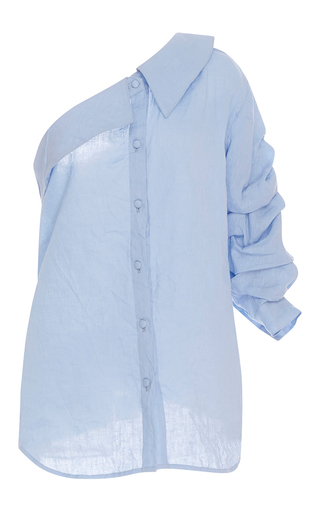 Medium johanna ortiz light blue m o exclusive malibu one shoulder shirt