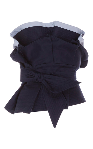 Medium johanna ortiz navy sailor strapless belted top