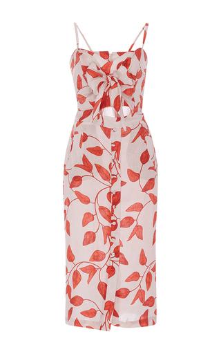 Medium johanna ortiz print desirade bow front sheath dress