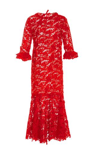 Medium johanna ortiz red m o exclusive cabo rojo lace dress