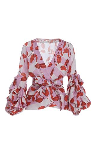 Medium johanna ortiz print yoko belted puff sleeve blouse