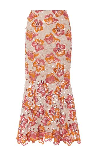 Medium johanna ortiz multi m o exclusive mustique lace fluted skirt