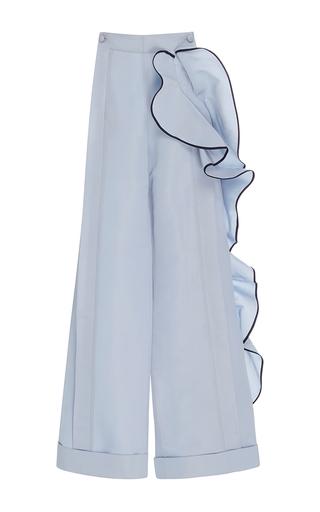 Medium johanna ortiz light blue road trip ruffled side pants