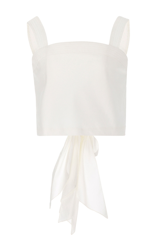 Medium johanna ortiz white m o exclusive santa cruz back bow top