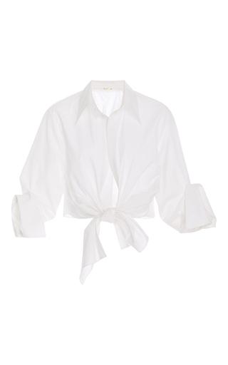 Medium johanna ortiz white victory tie front shirt