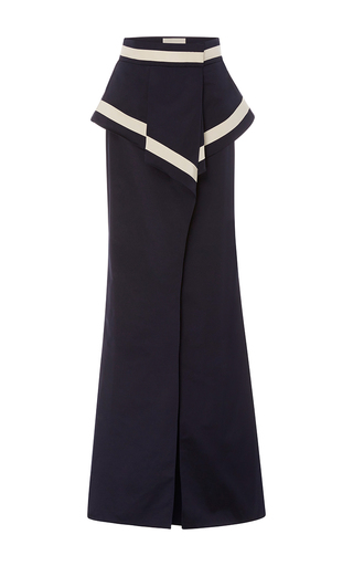 Medium johanna ortiz navy marina peplum long skirt