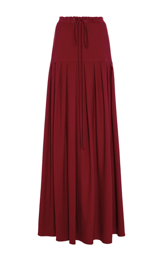 Medium hellessy red merlot abril pleated skirt
