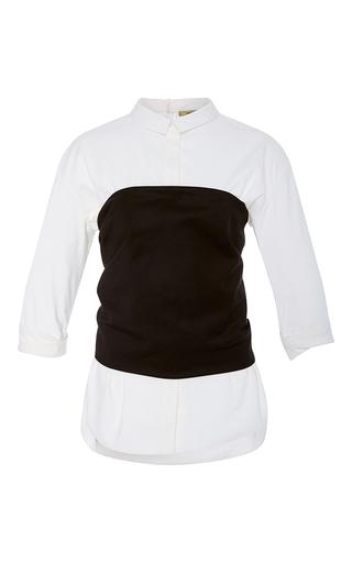 Medium hellessy black white franco bustier top