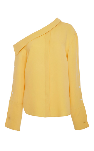 Medium hellessy yellow matte yellow tomaso blouse