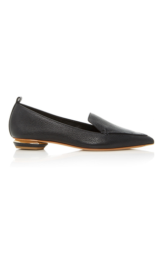 Medium nicholas kirkwood black beya leather loafers